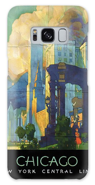Chicago - New York Central Lines - Vintage Poster Folded Galaxy Case