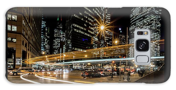 Chicago Nighttime Time Exposure Galaxy Case