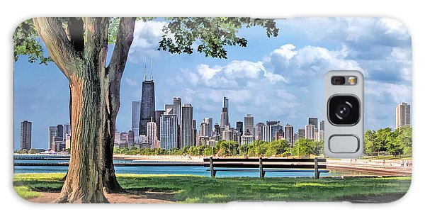Chicago North Skyline Park Galaxy Case