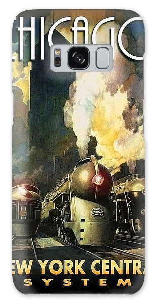 Vintage Chicago Galaxy Case - Chicago Railway, Steam Trains by Long Shot
