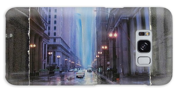 Chicago Rainy Street Expanded Galaxy Case