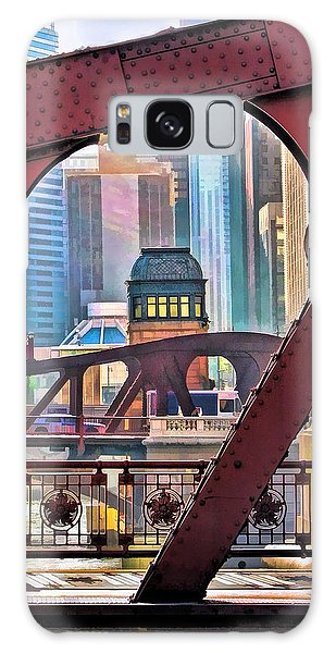 Chicago River Bridge Framed Galaxy Case