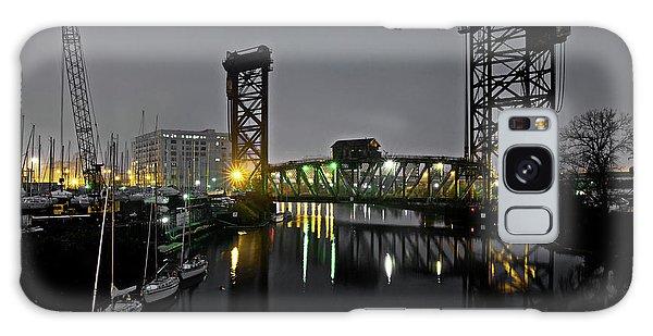 Marina Galaxy Case - Chicago River Scene At Night by Bruno Passigatti