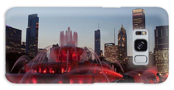 Chicago Skyline And Buckingham Fountain Galaxy Case
