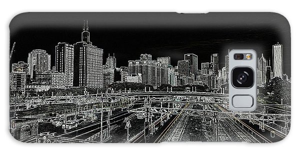 Chicago Skyline And Tracks Galaxy Case