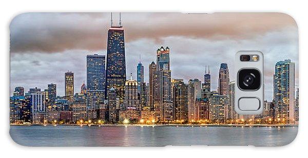 Chicago Skyline At Dusk Galaxy Case