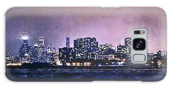 Chicago Skyline From Evanston Galaxy Case by Scott Norris