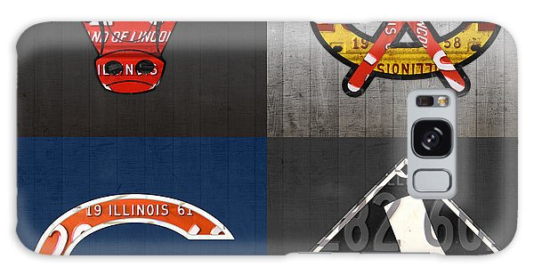 Recycle Galaxy Case - Chicago Sports Fan Recycled Vintage Illinois License Plate Art Bulls Blackhawks Bears And White Sox by Design Turnpike