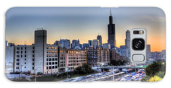 Chicago Sunrise Rush Hour Galaxy Case by Shawn Everhart