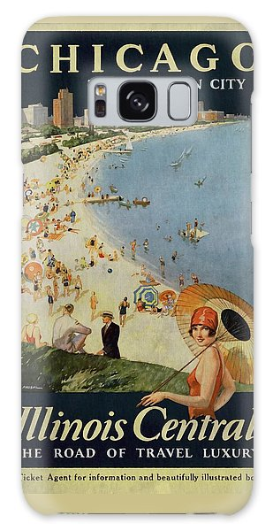 Chicago The Vacation City - Vintage Poster Vintagelized Galaxy Case