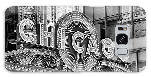 Chicago Theatre Marquee Black And White Galaxy Case