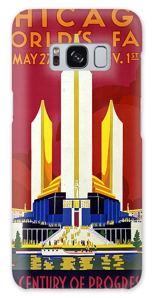 Vintage Chicago Galaxy Case - Chicago, World's Fair, Vintage Travel Poster by Long Shot