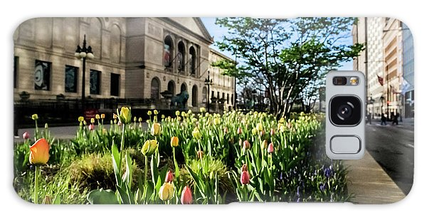 Art Institute Galaxy Case - Chicago's Art Institute One Early Spring Morning by Sven Brogren