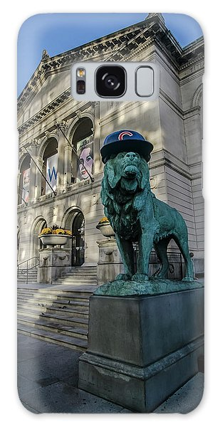 Art Institute Galaxy Case - Chicago's Art Institute With Cubs Hat by Sven Brogren