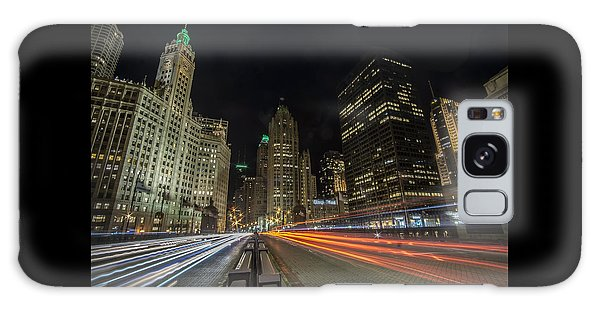 Chicago's Mag Mile Night Streaks Galaxy Case