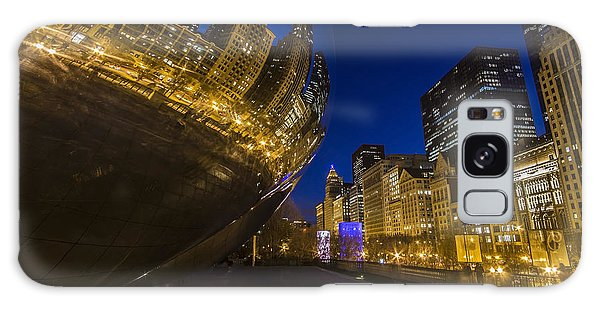 Chicago's Millenium Park At Dusk Galaxy Case