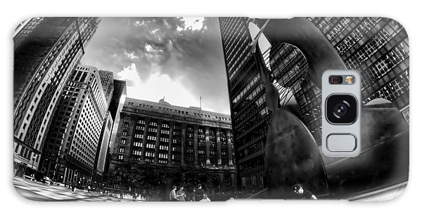 Chicago's Picasso With A Fisheye View Galaxy Case