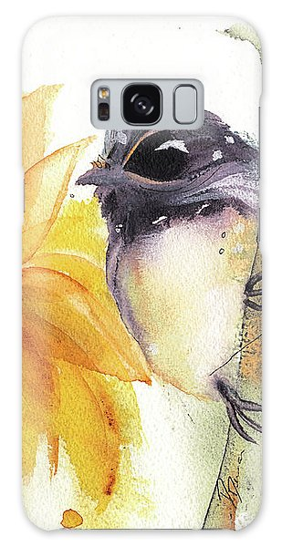 Chickadee And Sunflowers Galaxy Case