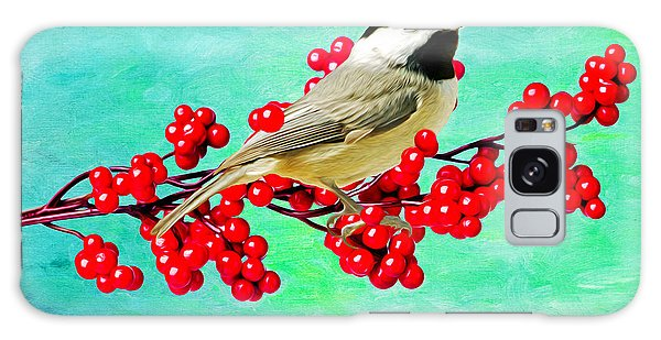 Chickadee Galaxy S8 Case - Chickadee And Winterberry by Laura D Young