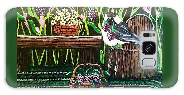 Chickadee Berries Galaxy Case