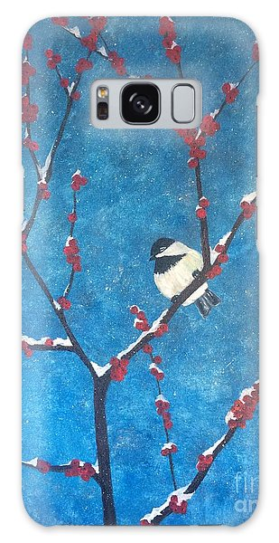 Galaxy Case featuring the painting Chickadee Bird by Denise Tomasura