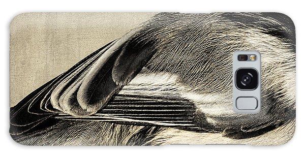 Chickadee Feathers Galaxy Case