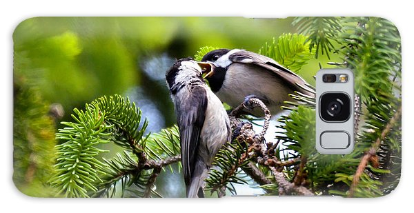 Chickadee Feeding Time Galaxy Case