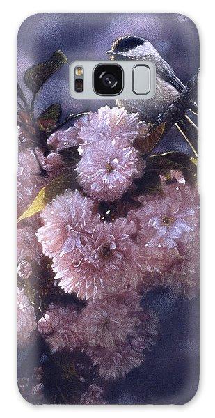 Song Birds Galaxy Case - Chickadee - In Spring Pink by Collin Bogle