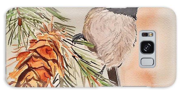 Chickadee In The Pine Galaxy Case