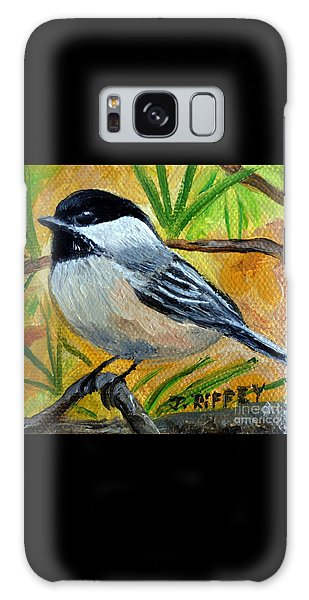 Chickadee In The Pines - Birds Galaxy Case