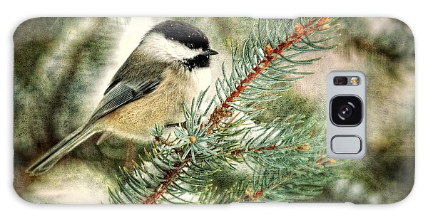 Chickadee On A Snowy Tree Galaxy Case