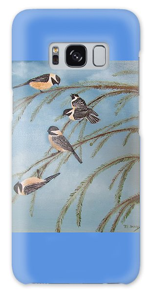 Chickadee Party Galaxy Case by Thomas Janos
