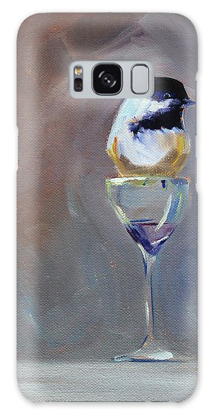 Chickadee Galaxy S8 Case - Chickadee Wine by Nancy Merkle