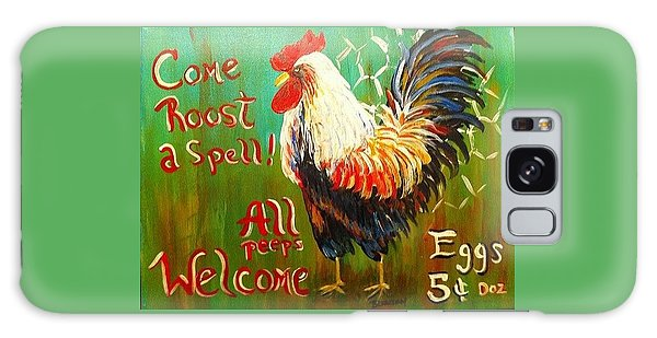 Chicken Welcome 3 Galaxy Case