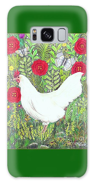 Chicken With Millefleurs And Butterflies  Galaxy Case