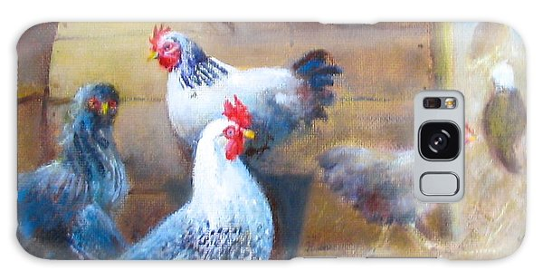 Chickens All Cooped Up Galaxy Case