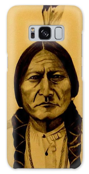Galaxy Case featuring the drawing Chief Sitting Bull  Tatanka Iyotake by Michelle Dallocchio