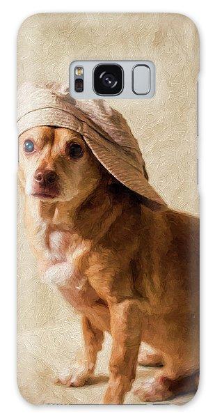 Chihuahua In A Newsboy Hat Galaxy Case