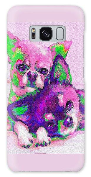 Chihuahua Love Galaxy Case by Jane Schnetlage