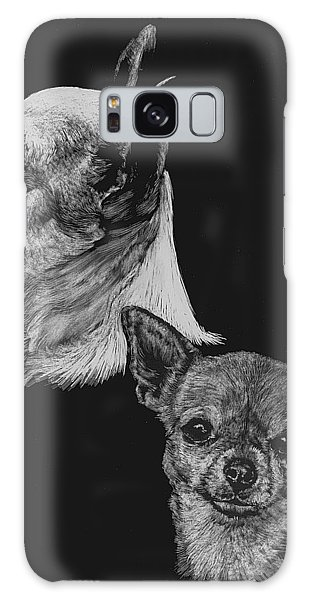 Chihuahua Galaxy Case by Rachel Hames
