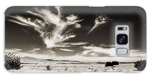 Chihuahuan Desert In Sepia Galaxy Case by Allen Sheffield