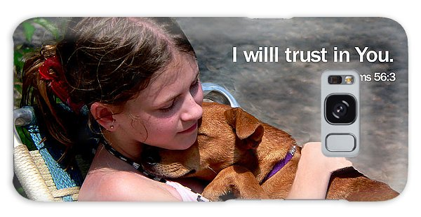 Child And Puppy Psalms Galaxy Case