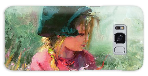 Galaxy Case featuring the painting Child Of Eden by Steve Henderson