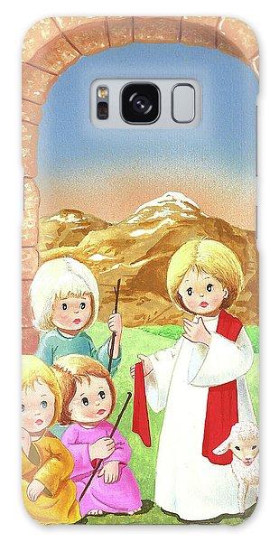 Child Shepherds Galaxy Case