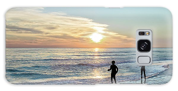 Children At Play On A Florida Beach  Galaxy Case