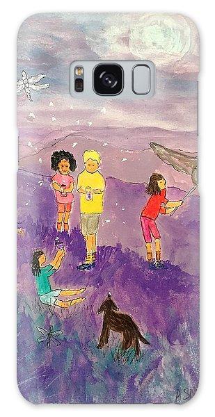 Children Catching Fireflies Galaxy Case
