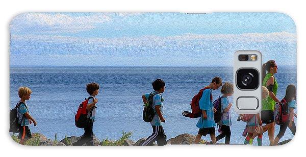 Children On Lake Walk Galaxy Case