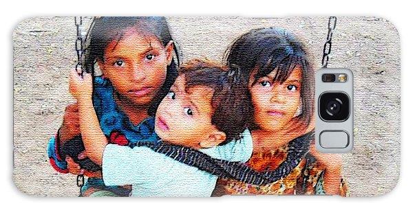 Children On Swing Galaxy Case