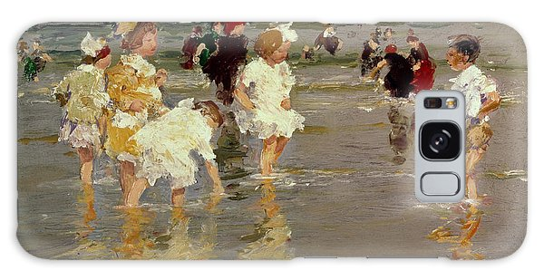 Impressionism Galaxy Case - Children On The Beach by Edward Henry Potthast