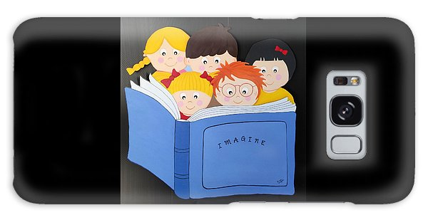 Children Reading Book Galaxy Case